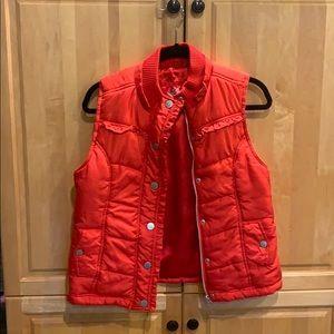 Red silky vest